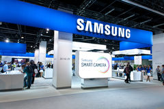 Samsung promoting Smart Camera at Photokina 2012 Royalty Free Stock Photography