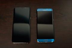 Samsung s8 συν και s7 smartphone ακρών Στοκ Εικόνες