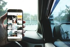 Samsung S7 Edge royalty free stock photos