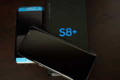 Samsung s8 plus smartphone Stock Images