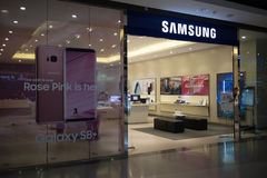 Samsung shop Inside of Central Festival Chiangmai Royalty Free Stock Photos