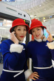 Samsung with show girls Stock Images