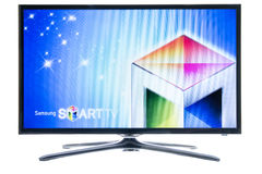 Samsung smart TV logo Stock Image