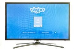 Samsung smart TV and skype Stock Images
