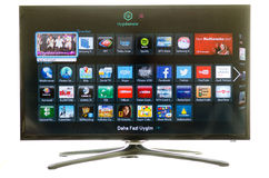 Samsung smart TV and social media Stock Photography