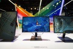 Samsung sta nella mostra di Photokina Fotografia Stock