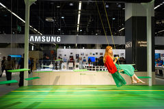 Samsung stand in the Photokina Exhibition Royalty Free Stock Photo