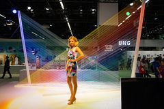 Samsung stand in the Photokina Exhibition Royalty Free Stock Photography