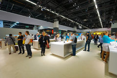 Samsung stand in the Photokina Exhibition Stock Photography