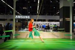 Samsung ställning i den Photokina utställningen Royaltyfria Bilder