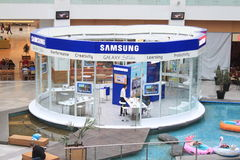 Samsung store. In mall AFI Palace Cotroceni , Bucharest,Romania Royalty Free Stock Images