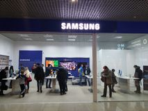 Samsung store Royalty Free Stock Image