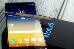 Samsungs-Anmerkung 8 lizenzfreie stockbilder