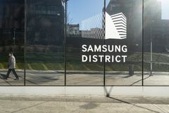 Samsungs-Bezirk in Mailand lizenzfreies stockfoto
