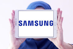 Samsungs-Firmenlogo Stockfotografie