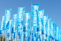 Samsungs-Flaggen Lizenzfreie Stockfotos