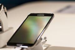 SAMSUNGS-GALAXIE S5, BEWEGLICHER WELTkongreß 2014 Stockfoto
