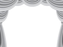 Samt-Stufe-Trennvorhang lizenzfreie abbildung