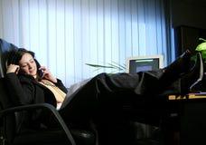 samtal för 2 kontor Arkivfoto