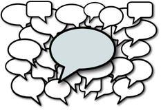 samtal för anförande för bubblamedel socialt royaltyfri illustrationer