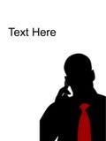 samtal för cellmantelefon royaltyfri illustrationer