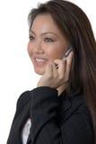 samtal för celltelefon royaltyfri foto