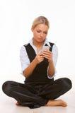 samtal för celltelefon Royaltyfri Bild