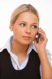 samtal för celltelefon arkivbild
