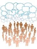 samtal för folk för nätverk för medel för företagsgrupp socialt Arkivfoton