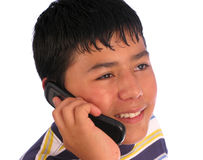 samtal för pojkecelltelefon Royaltyfri Fotografi