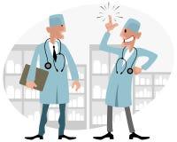 Samtal för två apotekare vektor illustrationer