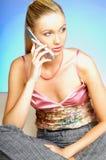 samtal för celltelefon Royaltyfria Bilder
