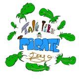 Samtal som en piratkopieradag Fotografering för Bildbyråer