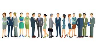 Samtala för affärsfolk stock illustrationer