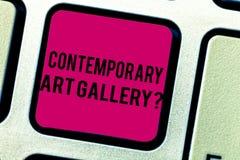 Samtida Art Galleryquestion för textteckenvisning Tangent för tangentbord för galleri för begreppsmässig forprofit för foto priva arkivfoton