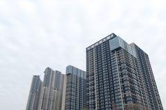 samtida bostadsspain för arkitekturbarcelona byggnad stil fotografering för bildbyråer