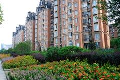 samtida bostadsspain för arkitekturbarcelona byggnad stil royaltyfria foton
