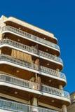 samtida bostadsspain för arkitekturbarcelona byggnad stil Royaltyfri Fotografi