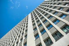 samtida bostadsspain för arkitekturbarcelona byggnad stil Arkivbilder