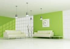 samtida grön interior royaltyfri illustrationer