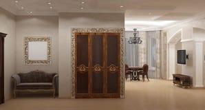 Samtida Interior royaltyfri illustrationer