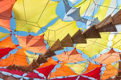 Samtida konst på den Ozora festivalen, royaltyfria bilder