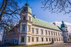 Samtida konstmuseum i Warszawa arkivfoton