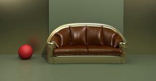 Samtida sofa Royaltyfri Fotografi