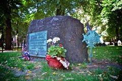 Samuel adams gravsten Fotografering för Bildbyråer