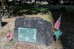 Samuel adams tombstone Stock Images