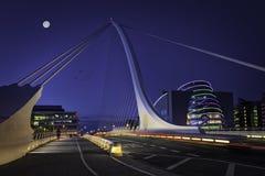 Samuel Beckett Bridge über Liffey-Fluss Lizenzfreies Stockfoto