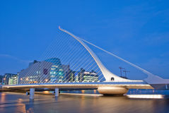 Samuel Beckett Bridge. The Samuel Beckett Bridge by Night Royalty Free Stock Images