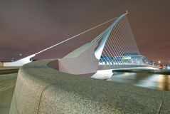 Samuel Beckett Bridge. The Samuel Beckett Bridge by Night Royalty Free Stock Photo