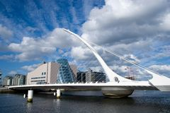 The Samuel Beckett Bridge stock images